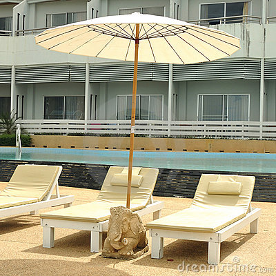 Beach Chairs on Beach Chair On The Beach Royalty Free Stock Photography   Image