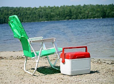 Beach chair and cooler