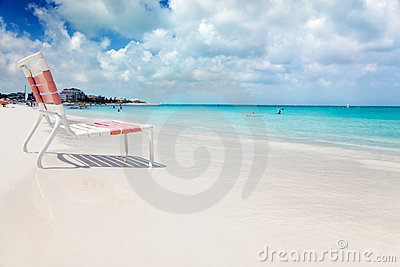 Beach chair in Grace Bay