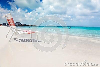 Beach chair in Grace Bay