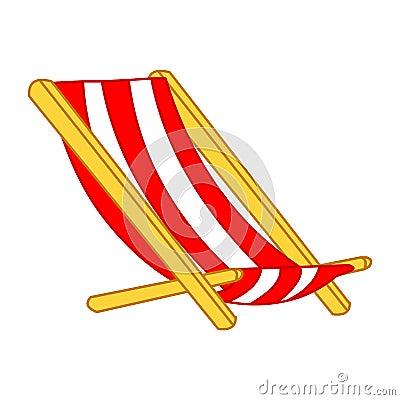 Beach Chair isolated illustration