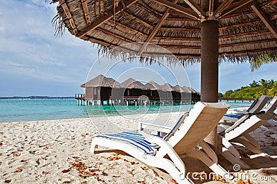 Beach chair in Maldives