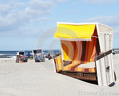 Beach-chair at the ocean - Summer