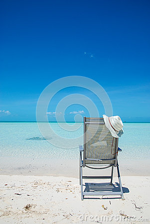Free Beach Chair On The Sand In Turks And Caicos Royalty Free Stock Photo - 64372695