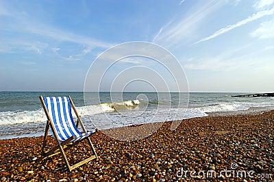 Beach Chair on Shoreline
