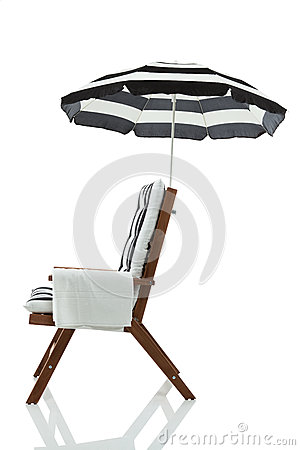 Beach chair with towel