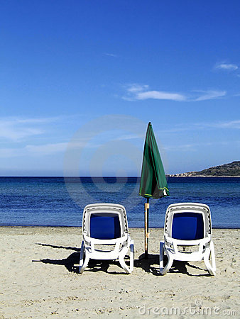 Free Beach Chairs Royalty Free Stock Photos - 2070408