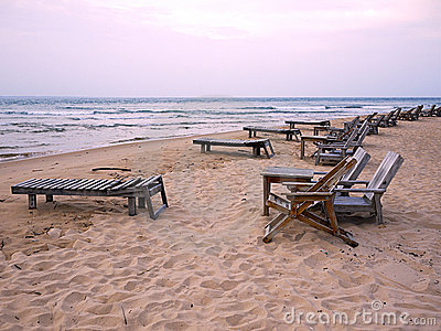 Beach and chairs