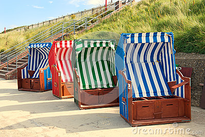 Beach chairs on Borkum island