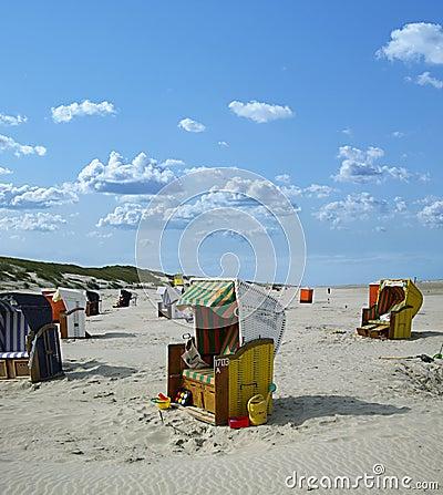 Beach chairs juist (germany)