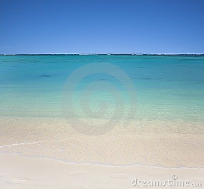 Beach with clear  waters