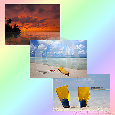 Beach collage