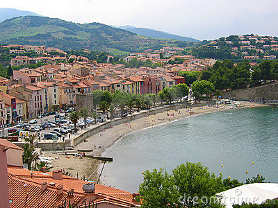 Beach in Collioure