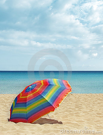 Beach colorful parasol / umbrella