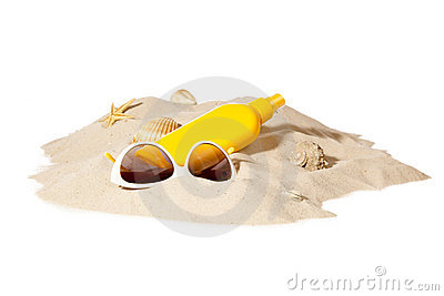 Beach concept with pile of sand