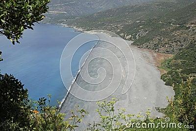 Beach in Corsica