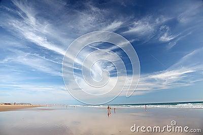 Beach at Costa de la Luz, Spain Editorial Photo