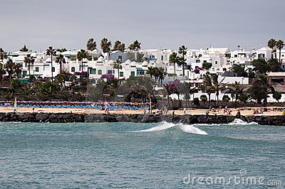 The Beach Of Costa Teguise, Lanzarote
