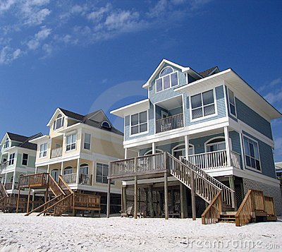 Beach Cottages on a White Sand Coast