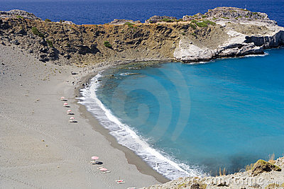 Beach at crete island , greece