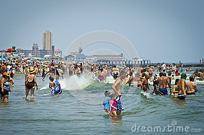 Beach Day Avon by the Sea Editorial Photo