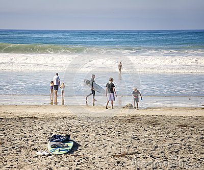 Beach Day, San Diego County, California Editorial Stock Image