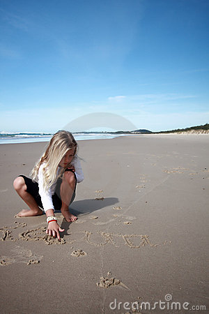 Free Beach Drawings Royalty Free Stock Images - 5851169
