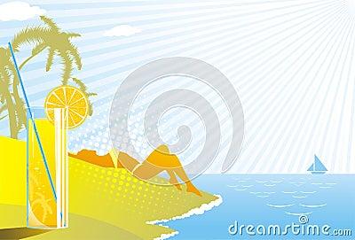 Beach; drink; enjoy; girl; glass