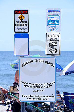 Beach Etiquette and Safety Sign