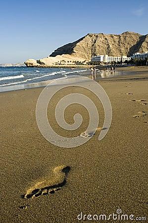Beach Foot Steps