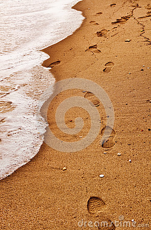 Beach Footsteps