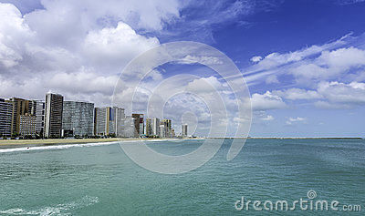 Beach of Fortaleza in Ceara state