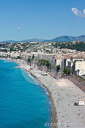 Beach in France, Nice