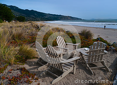 Beach front chairs