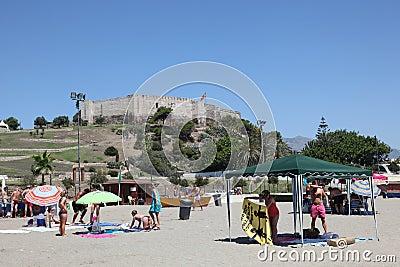 Beach in Fuengirola, Spain Editorial Image