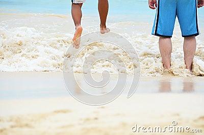 Jump in the ocean