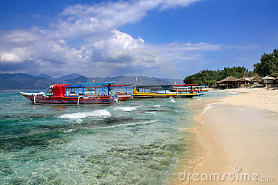 Beach on Gili Air island