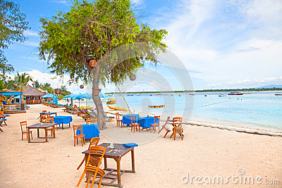 Beach in Gili island, Trawangan Editorial Photo