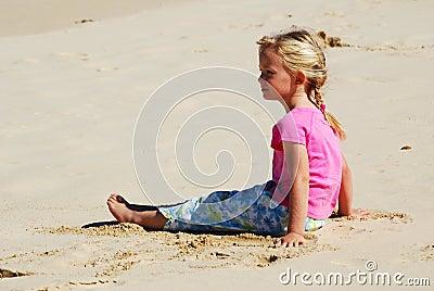 Beach girl little