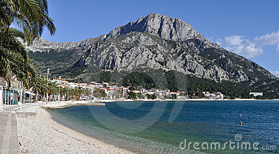 Beach in Gradac, Croatia