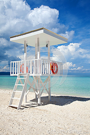 Beach guard tower in Boracay