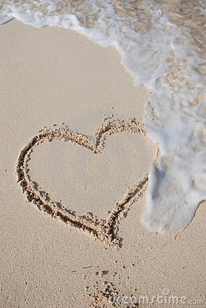 Free Beach Heart Stock Photo - 2612980