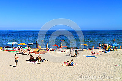 Beach holiday on the Baltic Sea Editorial Stock Photo