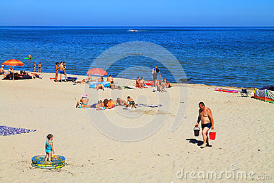 Beach holiday on the Baltic Sea Editorial Image