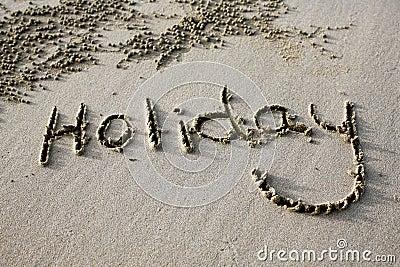 Beach Holiday Sign