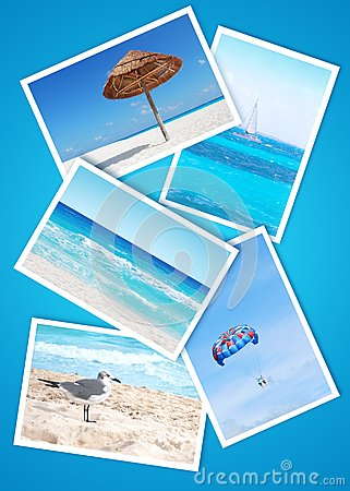 Beach holidays collage