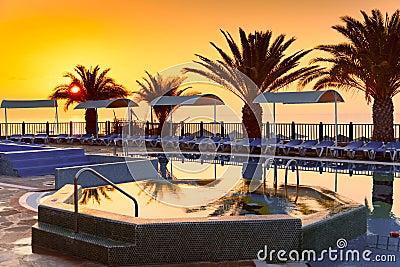 Beach hotel resort with pool
