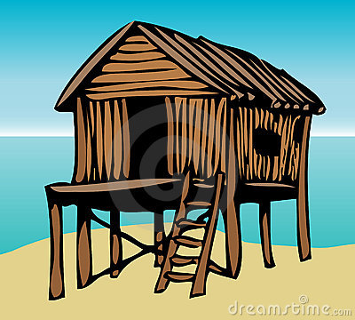 Free Beach House Graphic Royalty Free Stock Images - 4014769