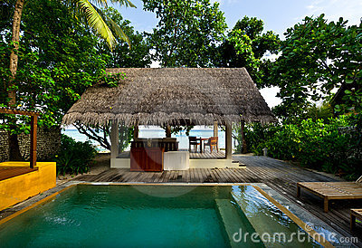 Beach house with private swimming pool