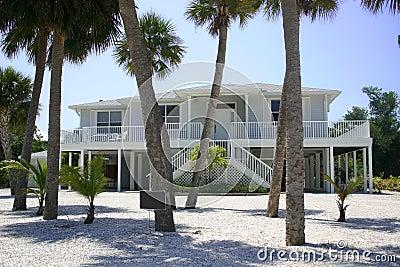 Beach house in tropics